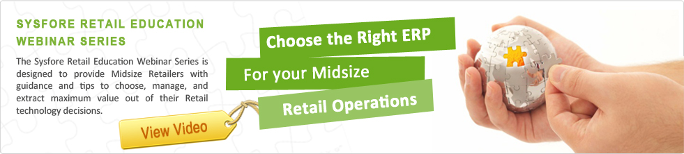 Sysfore Retail ERP Banner